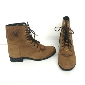 Ariat Shoes - Ariat Heritage Lacer Advanced Tan Boot Size 7.5
